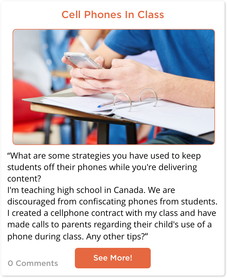 Post looking for Strategies to keep students off phones in class