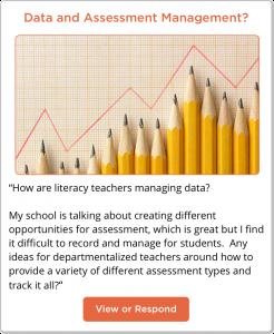 Data and Assessment Management Post on TeachersConnect