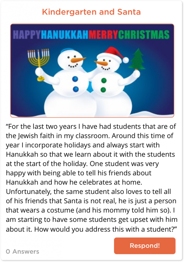 Post about teaching Kindergarten during the holidays