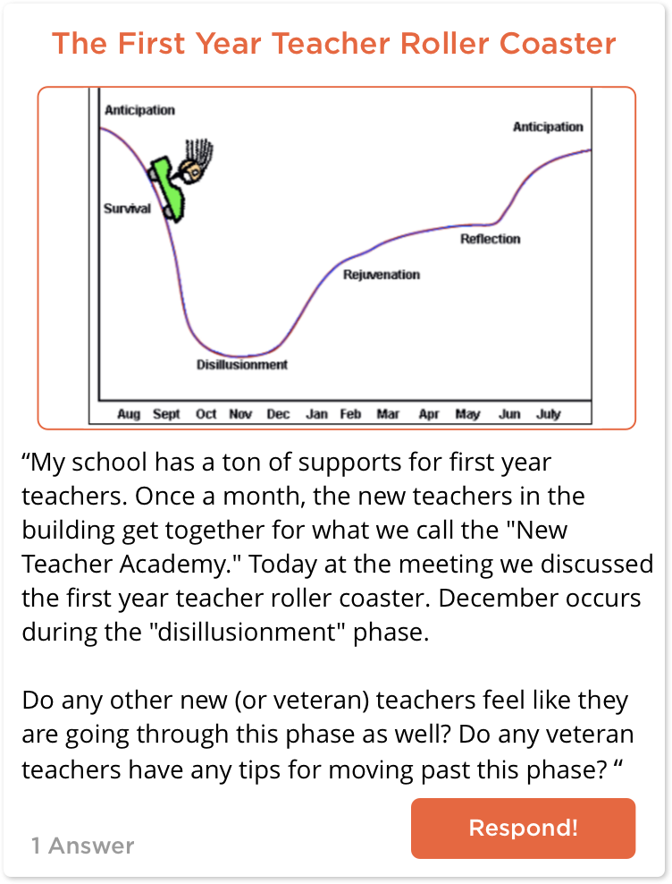 TeachersConnect post about getting past disillusionment