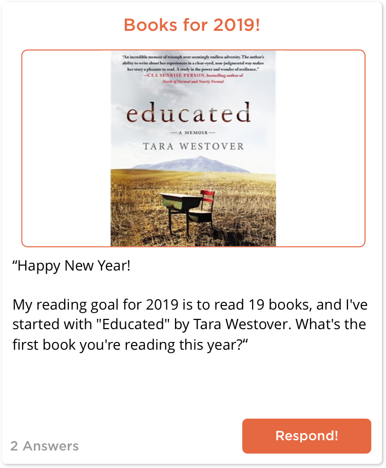 TeachersConnect post about books for 2019