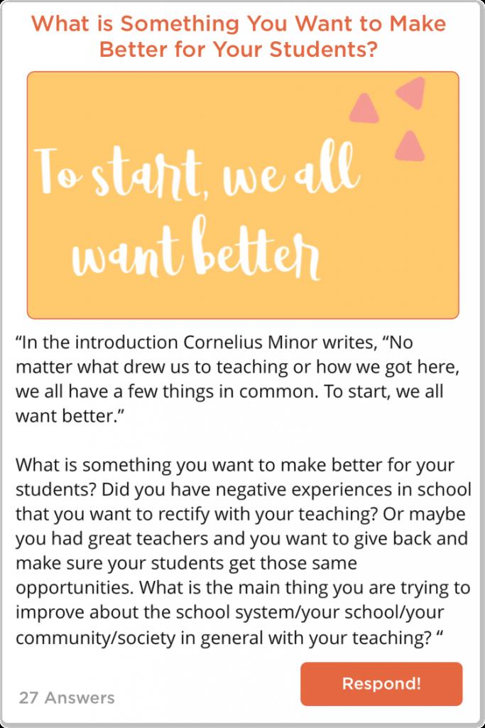 TeachersConnect Book Club Post