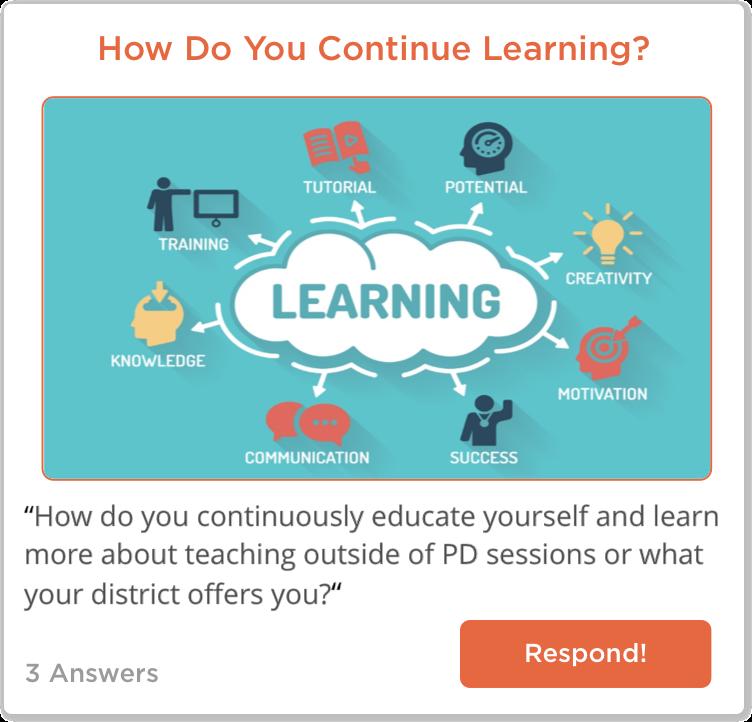TeachersConnect post about teacher PD options