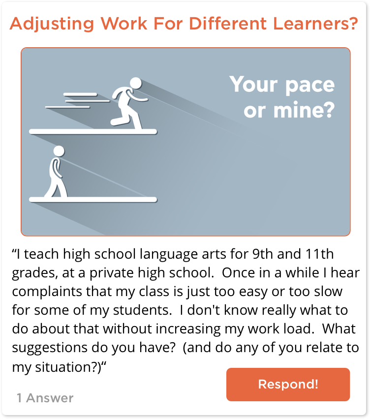 TeachersConnect post about adjusting work
