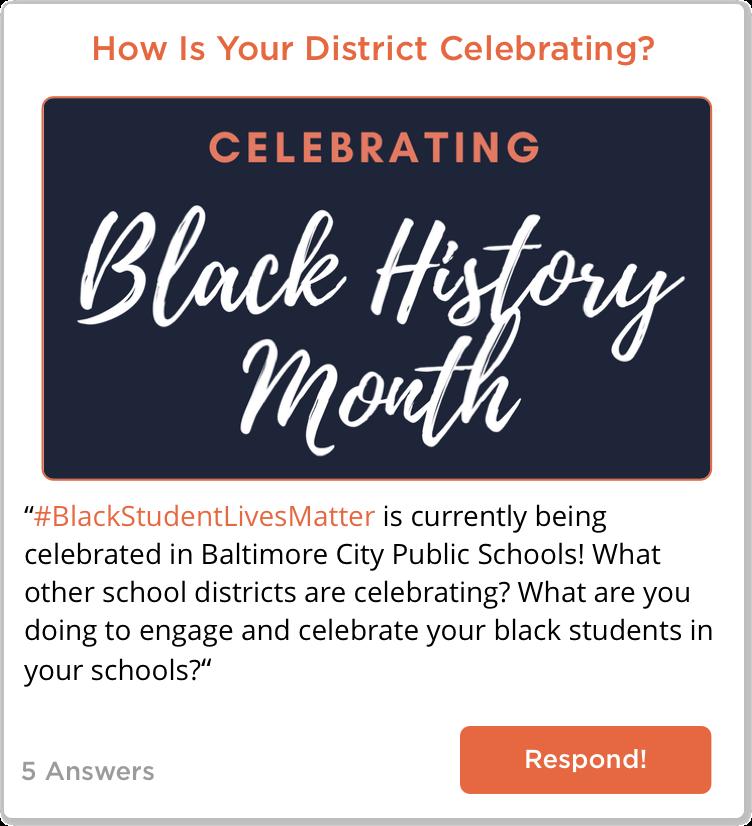 TeachersConnect Post about celebrating Black History Month