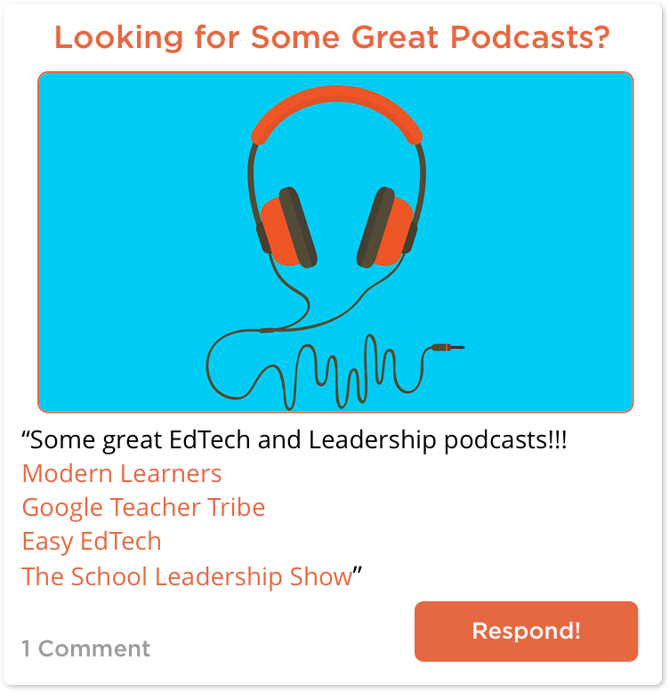TeachersConnect post with some great education podcasts