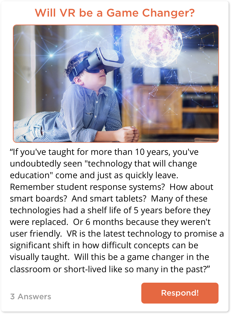 TC post about the future of VR in the classroom