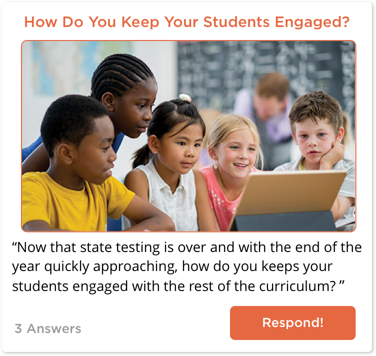 TeachersConnect post about student engagement