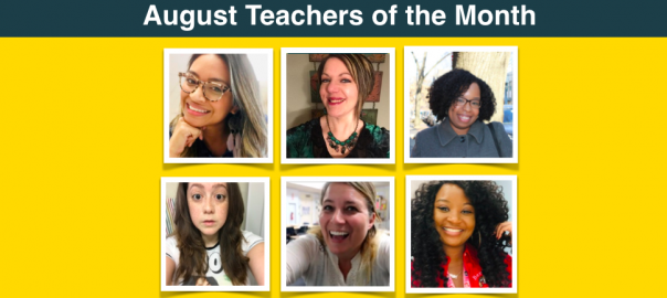 Pictures of the August Teachers of the Month